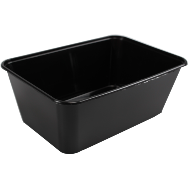 Container, PP, 1000cc, 172x120x60mm, black 1