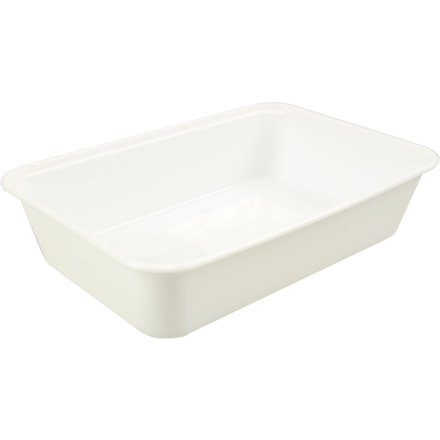 Container, PP, 500cc, 172x120x35mm, white 1