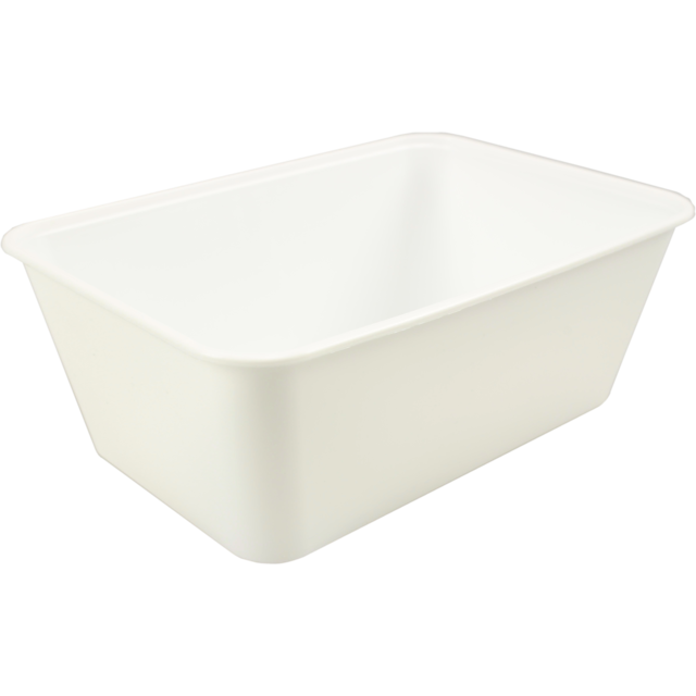Container, PP, 1000cc, 172x120x60mm, white 1