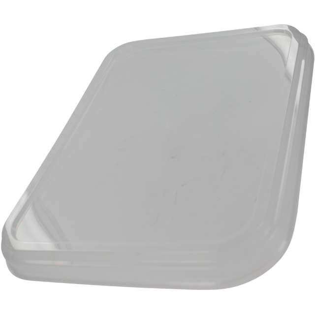 Couvercle, PP, rectangulaire, transparent 1