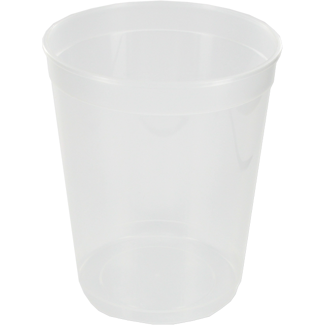 Container, PP, 1000ml, Ø115mm, plastic cup, 135mm, transparent 1