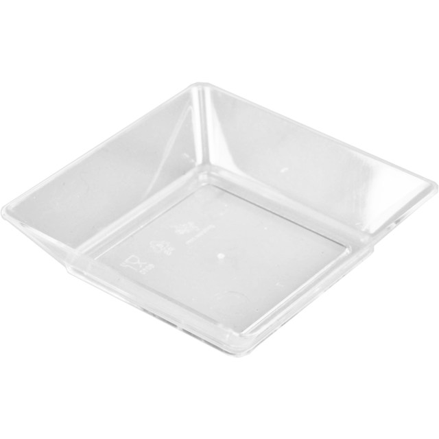 Depa Plat, plat amuse-bouche, PS, carré , 64x64mm, transparent 1