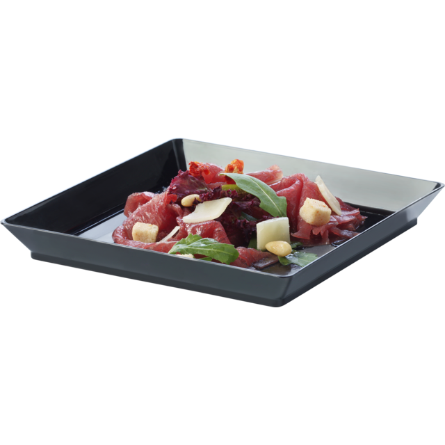 Depa Catering serving tray , amuse dish, PS, square , 130x130mm, black 1