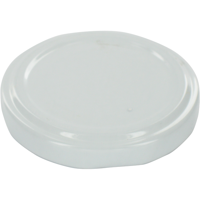 Lid, Metal, round, white 1