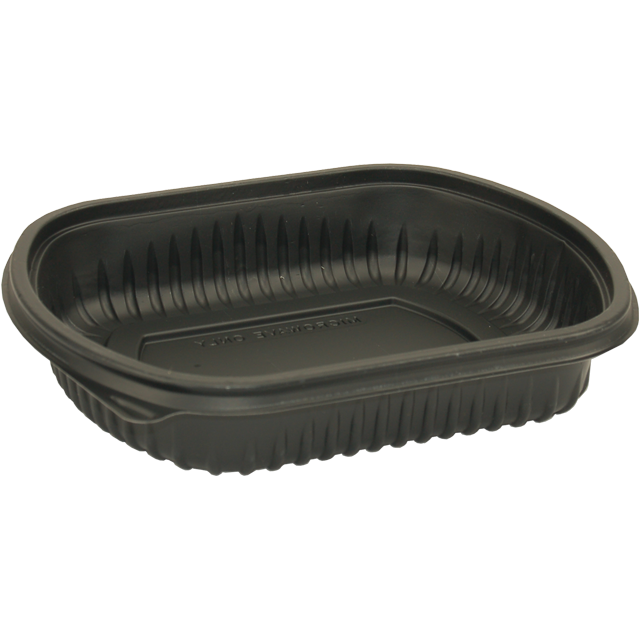 Container, PP, 1 compartment, menu container, 206x165x25mm, black 1