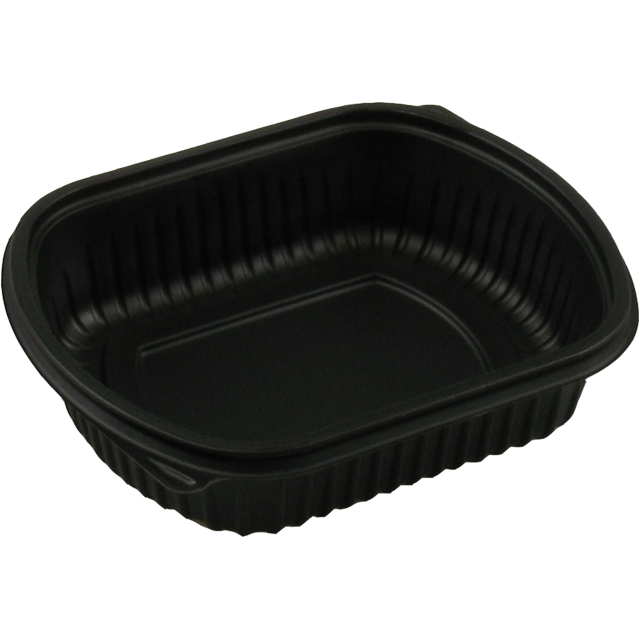 Container, PP, 1 compartment, menu container, 206x165x50mm, black 1