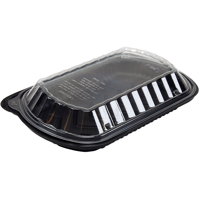 Container, PP, menu container, 275x181x59mm, black 1