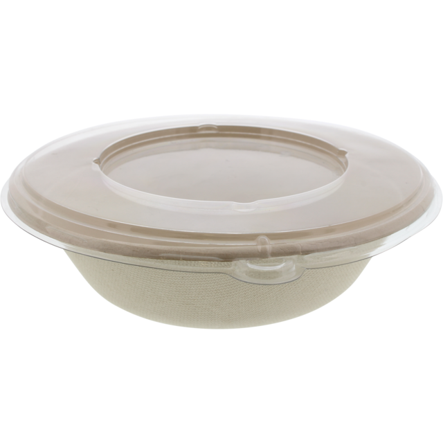 Container, Bagasse, 1000cc, salad container, natural 1