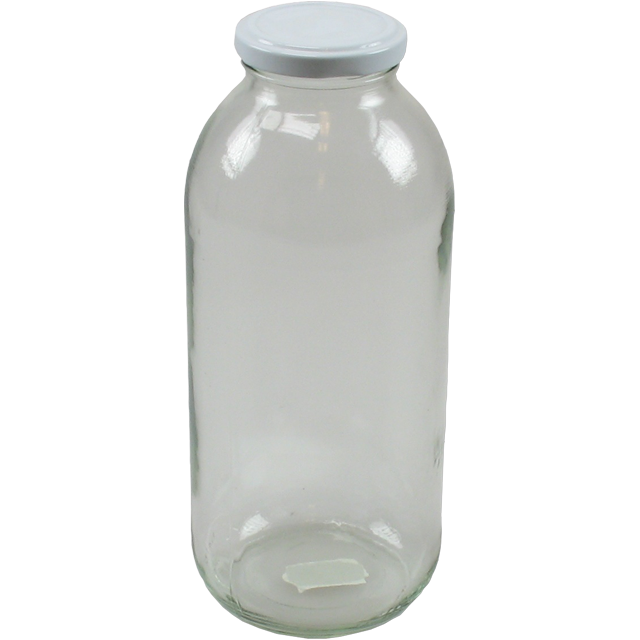Tub, Glass, round, 1000ml, transparent. 1