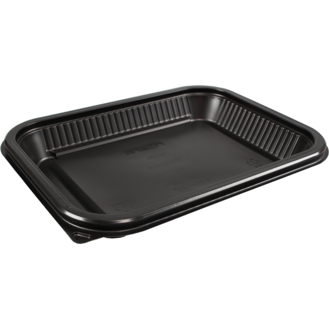 Container, PP, 450ml, menu container, 227x177x28mm, black 1