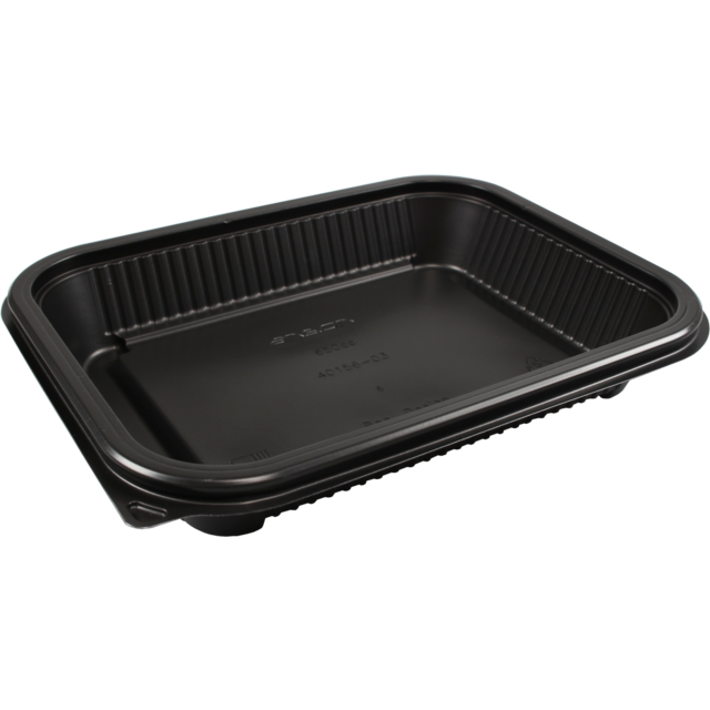 Container, PP, 650ml, menu container, 227x177x37mm, black 1