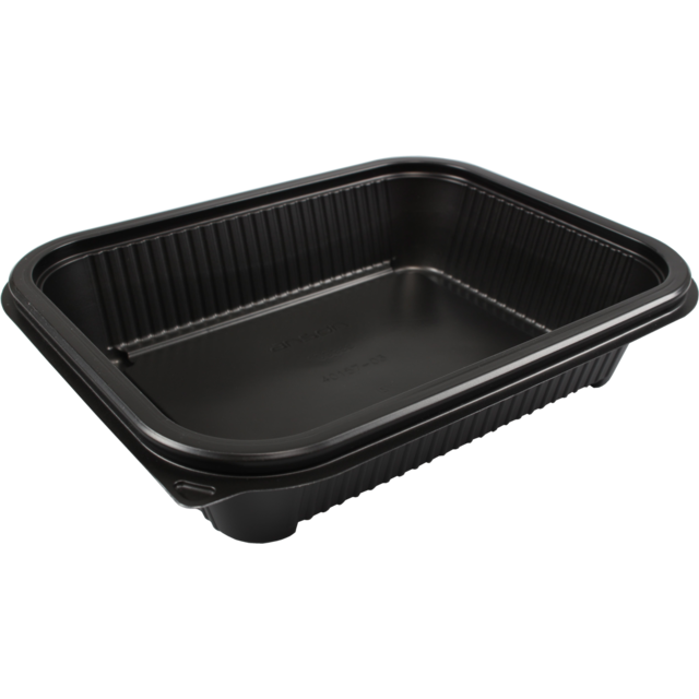 Container, PP, 1000ml, menu container, 227x177x49mm, black 1
