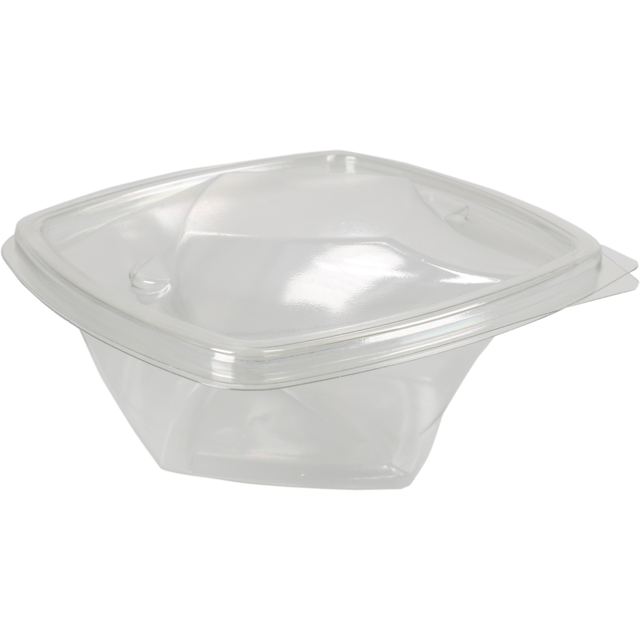 Bak, PET, 375ml, saladebak, 140x140x55mm, transparant 1