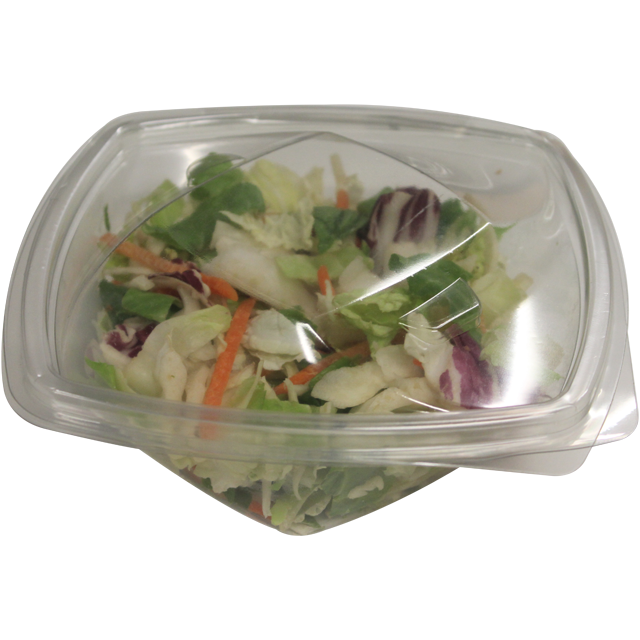 Container, PET, 500ml, salad container, 160x160x50mm, transparent 1