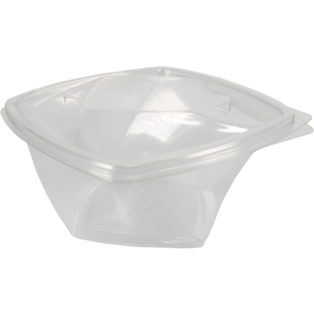 Barquette, PET, 750ml, barquette salade, 160x160x75mm, transparent 1