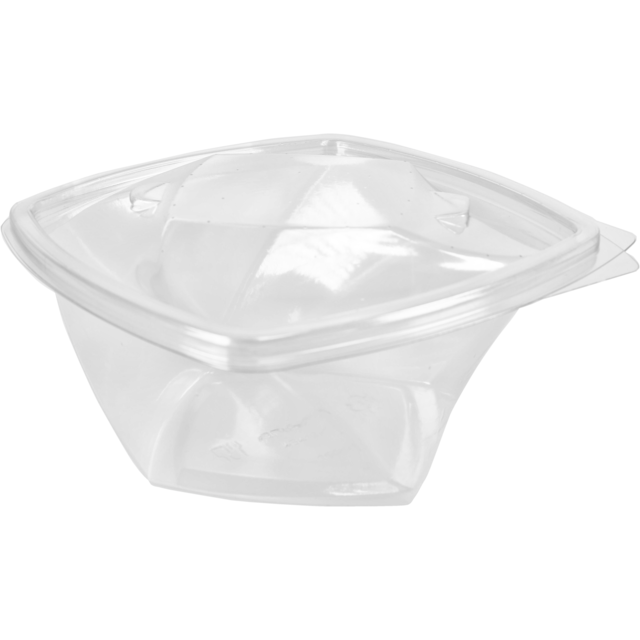 Container, PET, 750cc, Twisty salad pack, salad container, 328x160x73mm, transparent 1