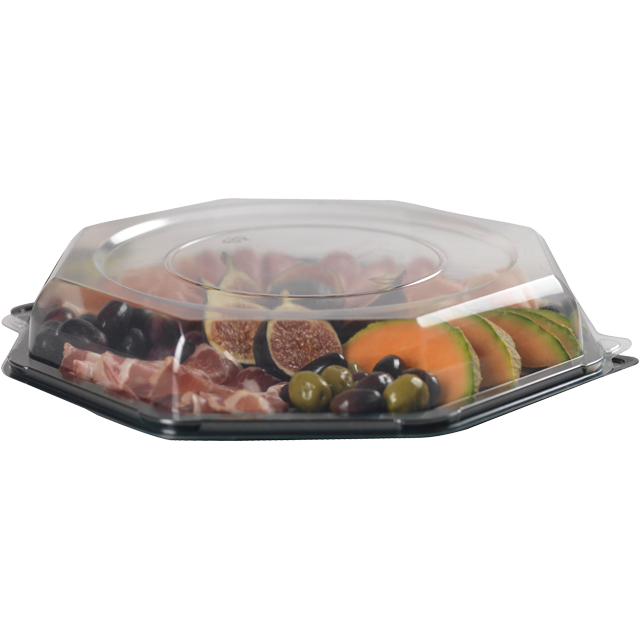 Container, PP, salad container, 305x305xtransparent 1