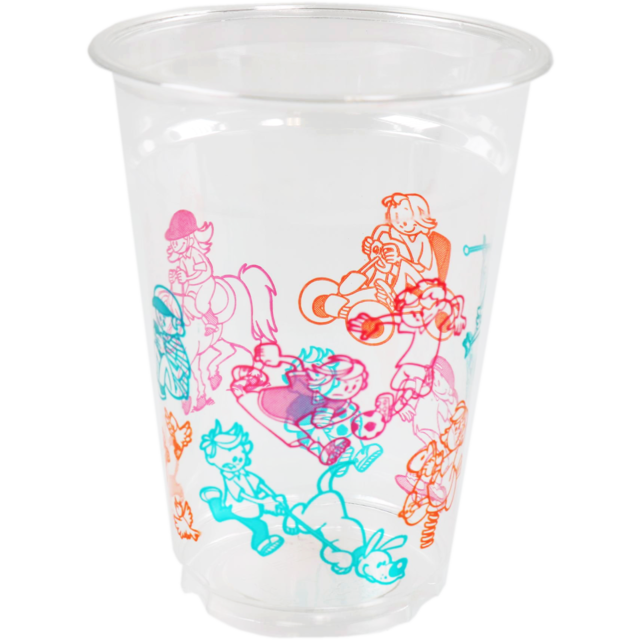 Glass, kids cup, PET, 250ml, transparent 1