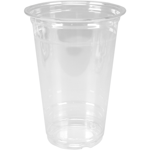 Glass, soft drink glass, PET, 590ml, 125mm, transparent 1