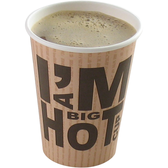 I'M Concept, Beker, I'M a big HOT cup, Karton en coating, 350ml, 12oz, 110mm,  wit 1