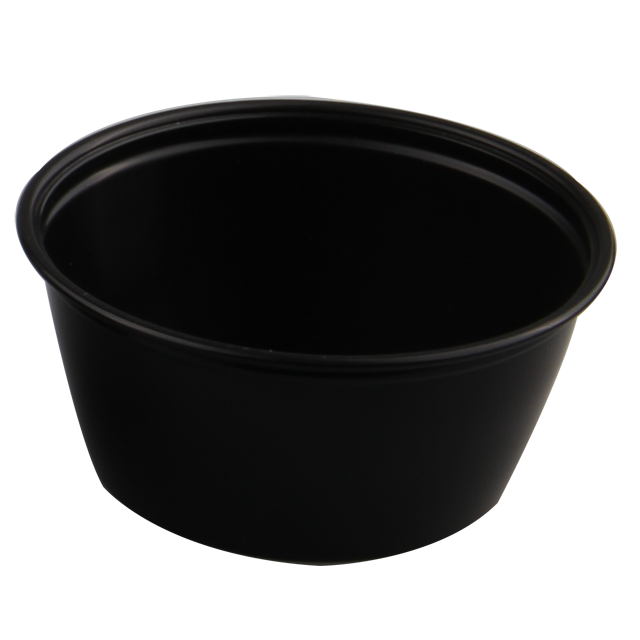 Container, PP, 96ml, Ø76mm, plastic cup, 36mm, black 1