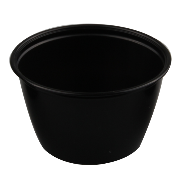 Container, PP, 118ml, Ø76mm, plastic cup, 46mm, black 1