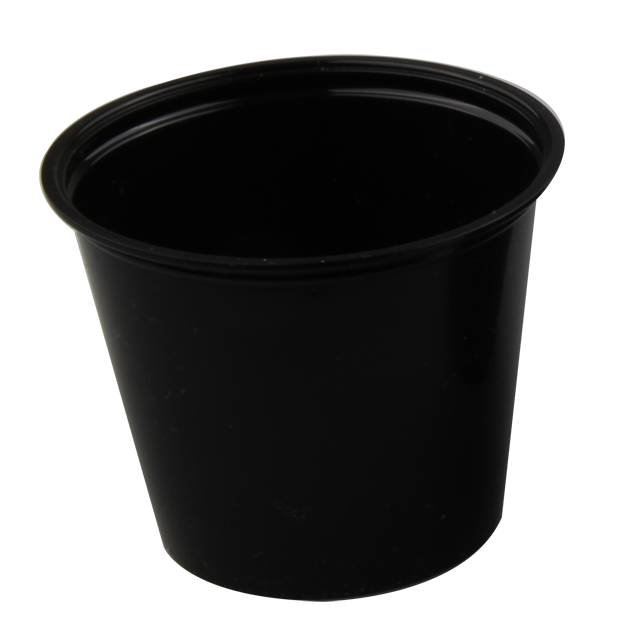 Container, PP, 162ml, Ø76mm, plastic cup, 61mm, black 1