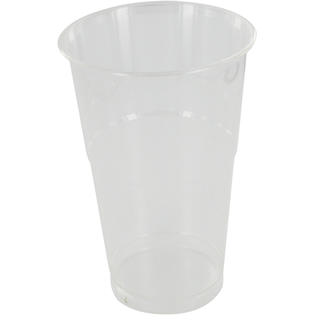 Glass, drinking cup, PP, 500ml, transparent 1
