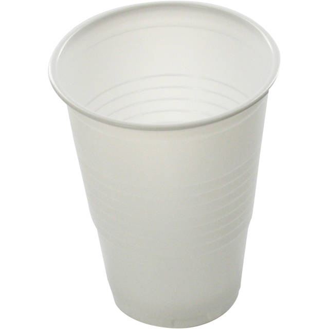 Vending machine cup, PS, 180ml, 90mm,  white 1