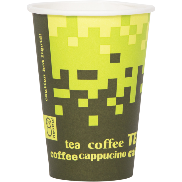 Retro®, Hot cup-beker, Retro Fresco, Karton en coating, 180ml, groen 1