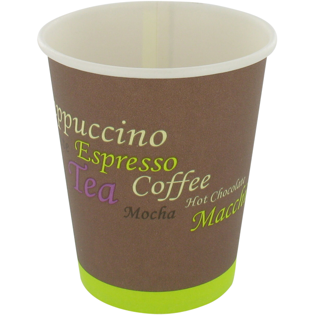 Coffee cup, Cardboard and coating, 150ml, 6oz, brown 1
