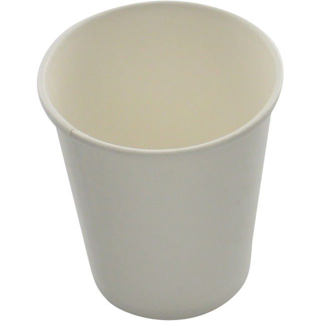Hot cup, Cardboard and coating, 150ml, 6oz, white 1