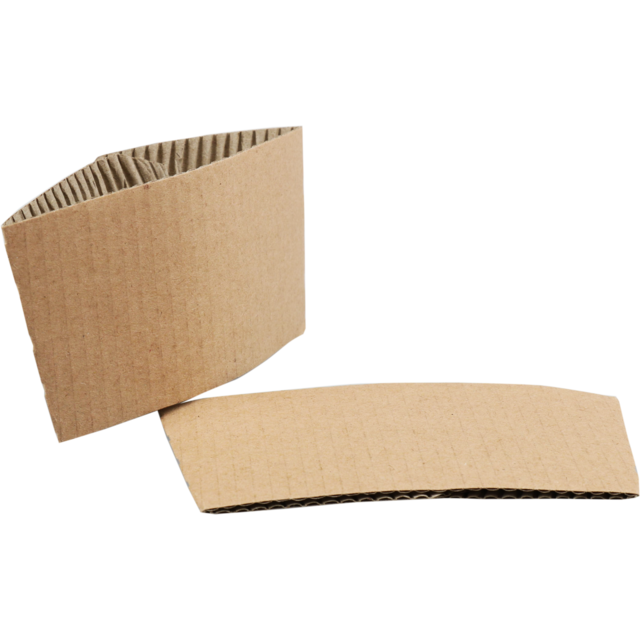 Sleeve, Corrugated cardboard, Brown. 1