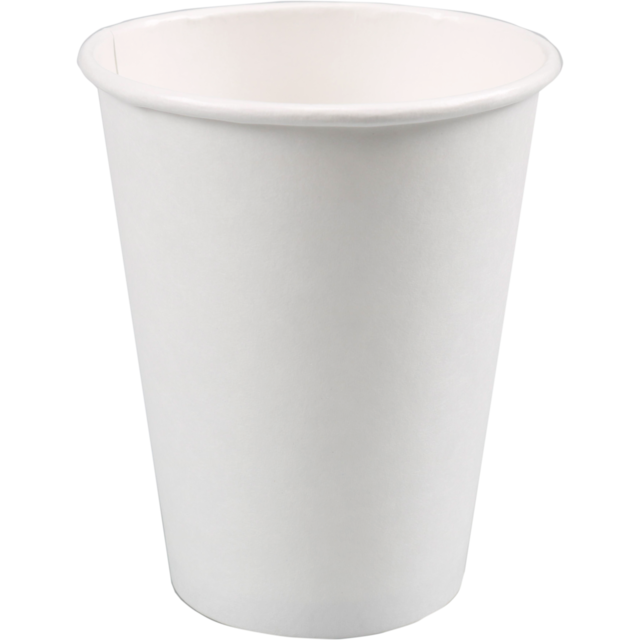Hot cup, Cardboard and coating, 300ml, 12oz, white 1