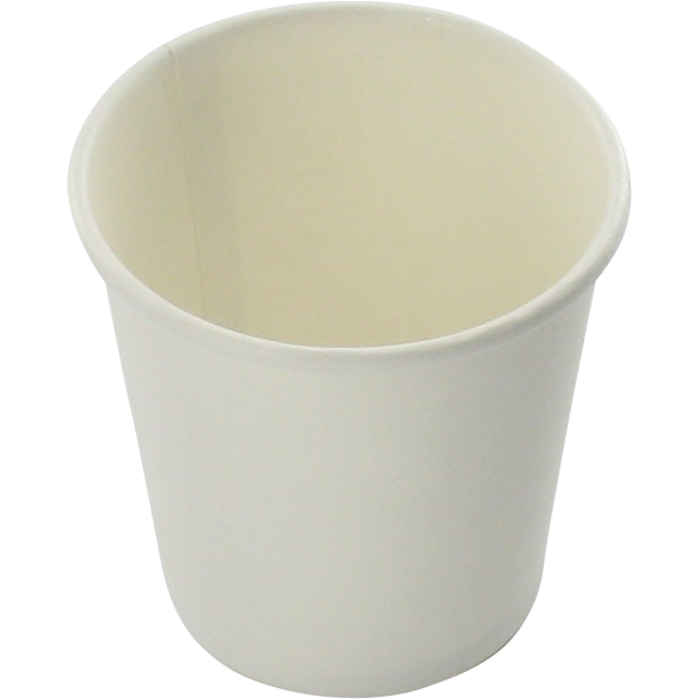 Hot cup beker, Karton en coating, 280ml, 10oz, wit 1