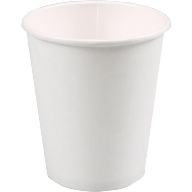 Hot cup, Cardboard and coating, 250ml, 8oz, white 1