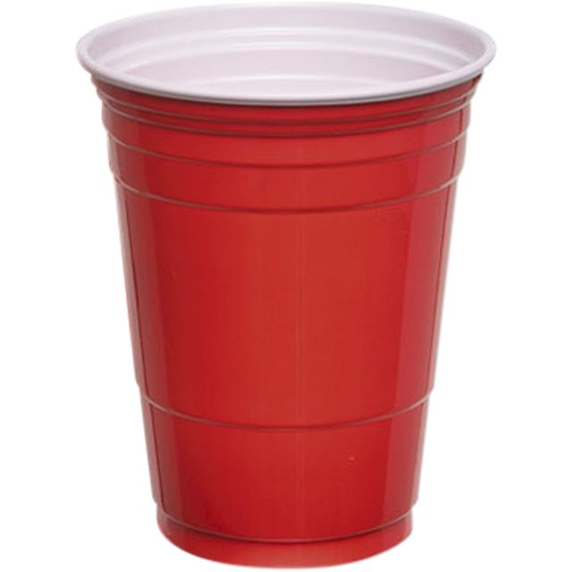 DEPA®, Drinkbeker, PS, 300ml, 10oz, rood 1