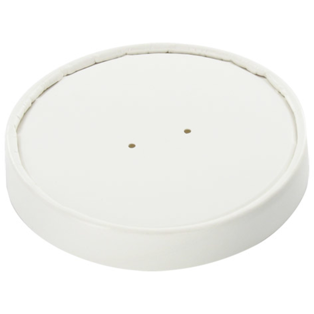 Lid, Cardboard and plastic, round, white 1