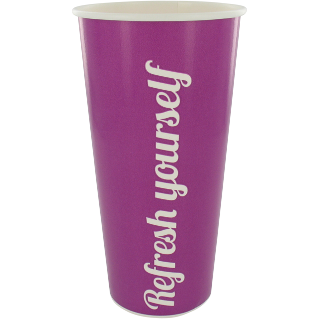 Milkshake cup, Cardboard, 500ml, 20oz, purple 1