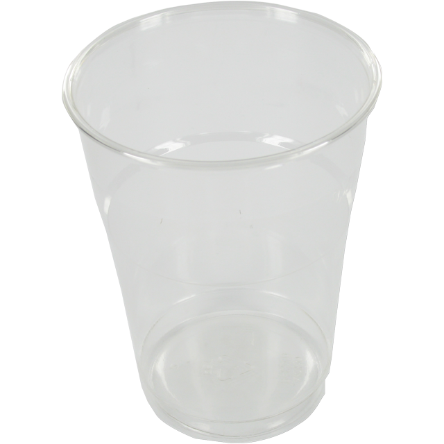 Glas, bier-/frisdrankglas, tulp, PET, 400ml, 125mm, transparant 1