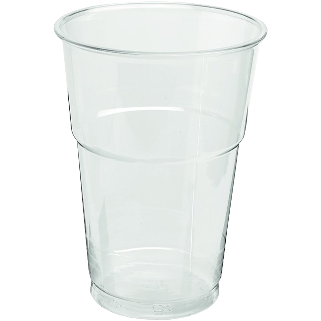 Glass, beer/soft drink glass, with collar, PET, 250ml, transparent 1