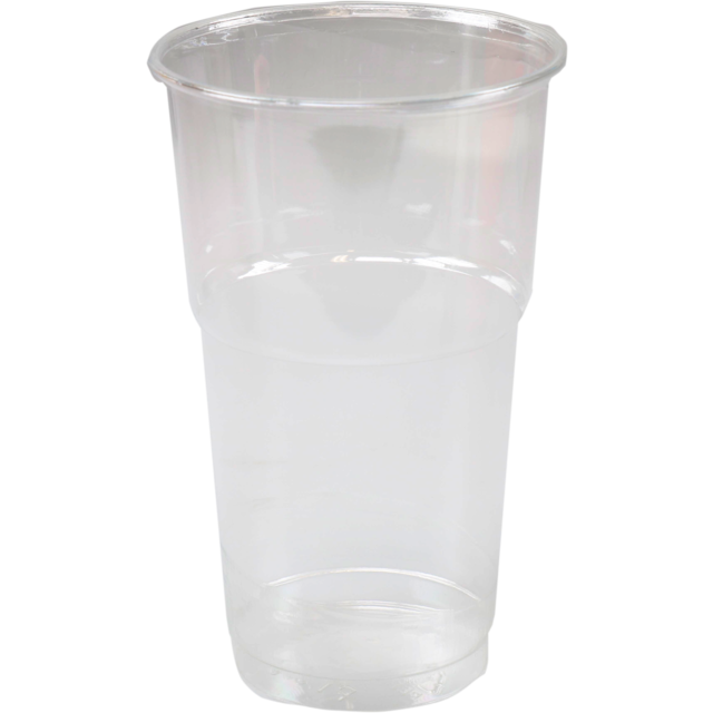 Glass, beer/soft drink glass, with collar, PET, 300ml, transparent 1