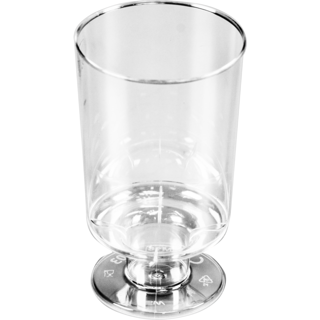 Verre, verre à sherry à pied, PS, 100ml, 82mm, transparent 1