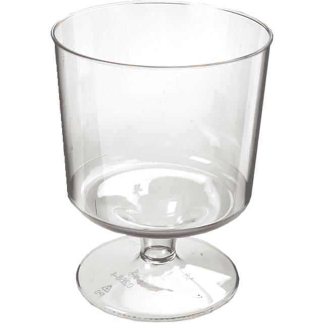 Glass, wine glass on foot, PS, 170ml, 86mm, transparent 1