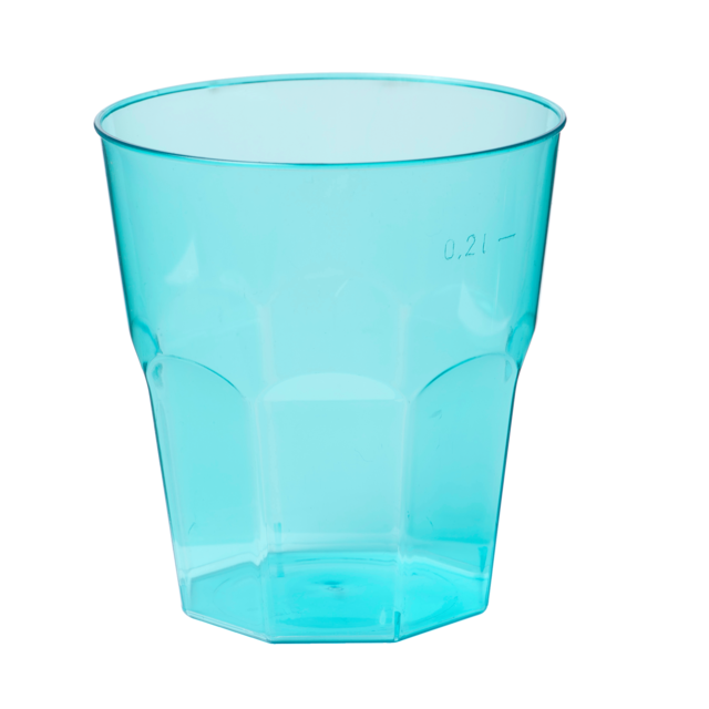 Glass, bistro glass, PS, summertime, 220ml, turquoise 1