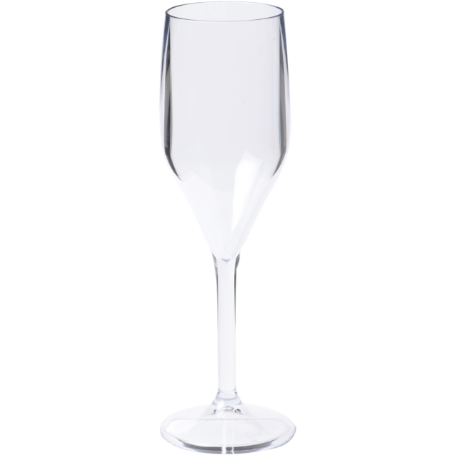 Glass, champagne glass, SAN, durable (500x), 150ml, 200mm, transparent 1