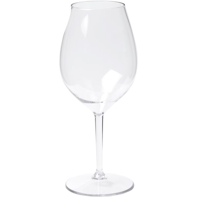 Glass, wine glass, PETG, durable (500x), 510ml, transparent 1