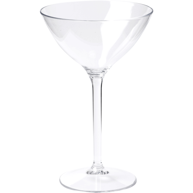 Glas, cocktailglas, PETG, durable (500x), 300ml, transparant 1