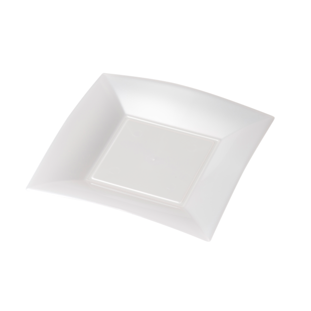 Depa Plate, square ,  dessert plate, pearl, PP, 180x180mm, white 1