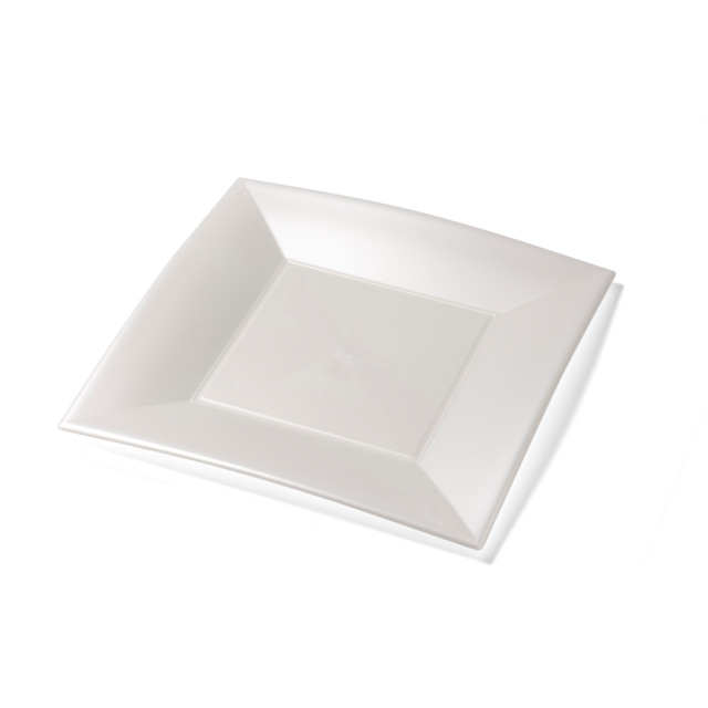 Depa Plate, square ,  pearl, PP, 290x290mm, white 1